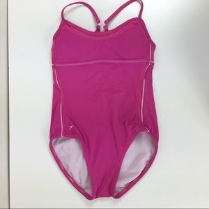 Speedo Mesh Spliced Clip Back Swimsuit Hydrobra XS